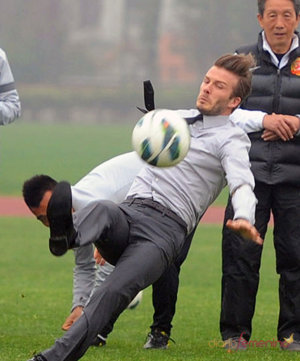 David Beckham: el accidente de su tropezón famoso