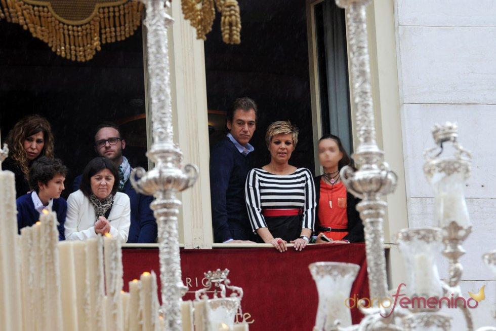 Terelu Campos, su hija Alejandra Rubio y su novio Carlos Pombo