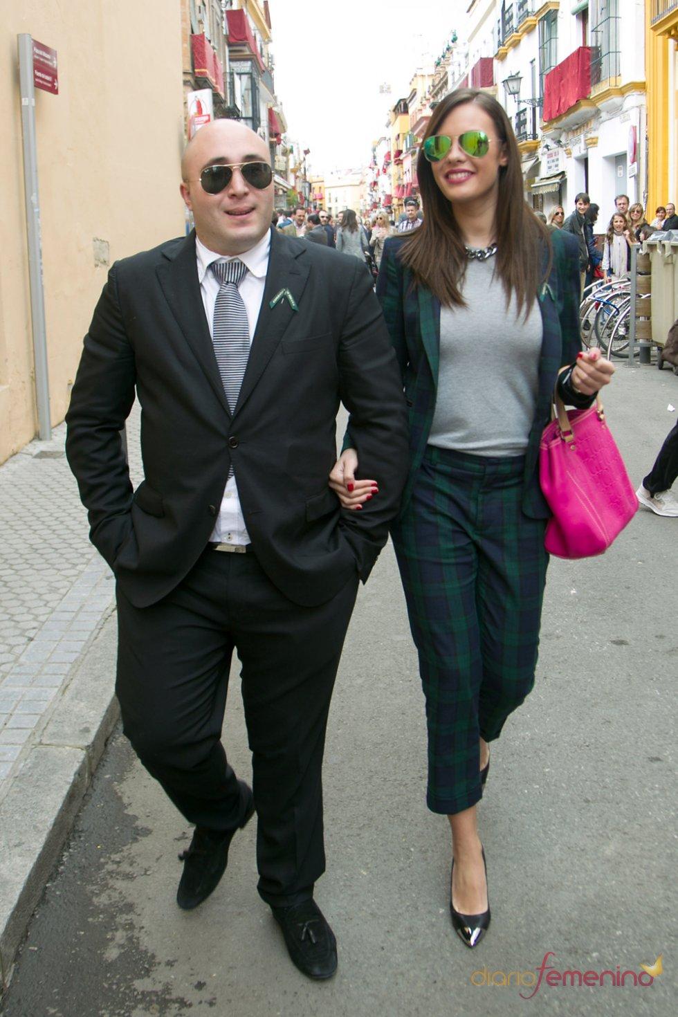 Kiko Rivera y Jessica Bueno en Sevilla durante la Semana Santa