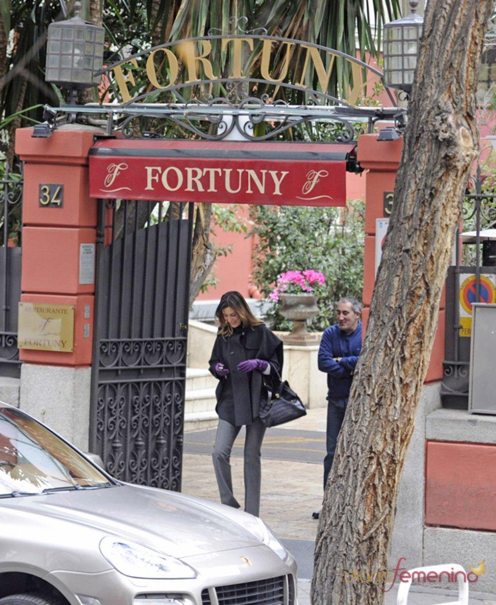 Mar Flores en el restaurante 'Fortuny' de Madrid