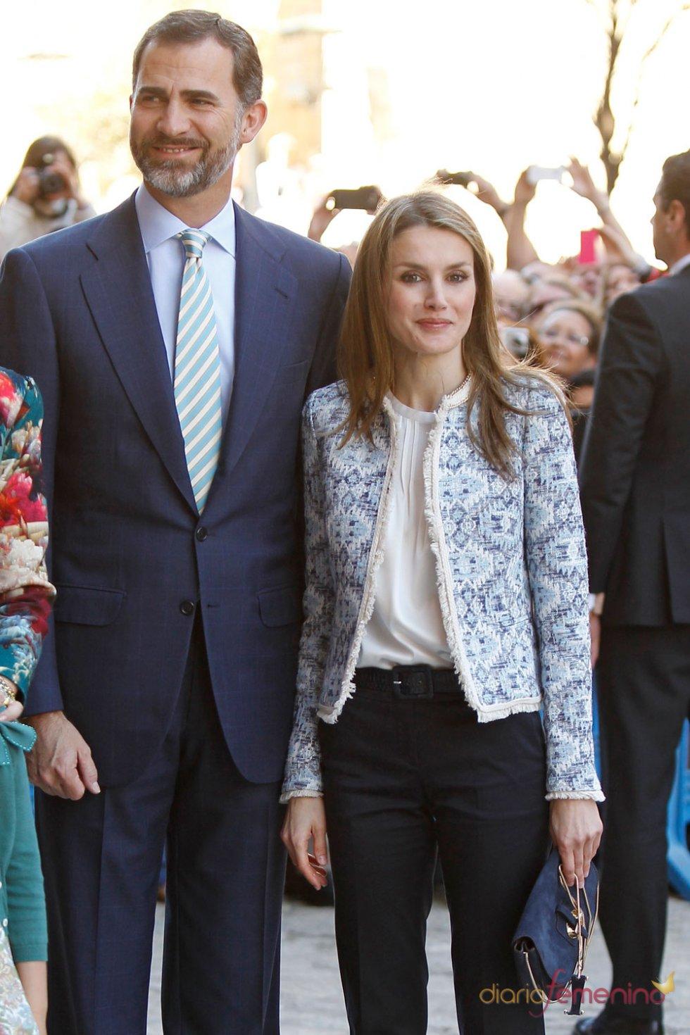 Letizia y el Príncipe, en la Pascua de la Semana Santa 2013