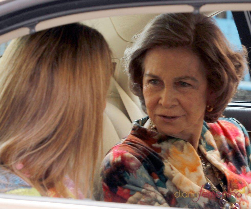 La Reina Sofía y la Infanta Elena, en la Pascua de la Semana Santa 2013