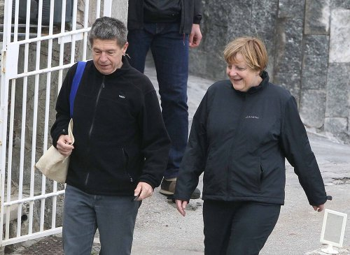 Angela Merkel y su marido, Joachim Sauer, durante su Semana Santa 2013 en Italia