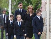 La infanta Cristina e Iñaki Urdangarín unidos en el funeral del padre de él