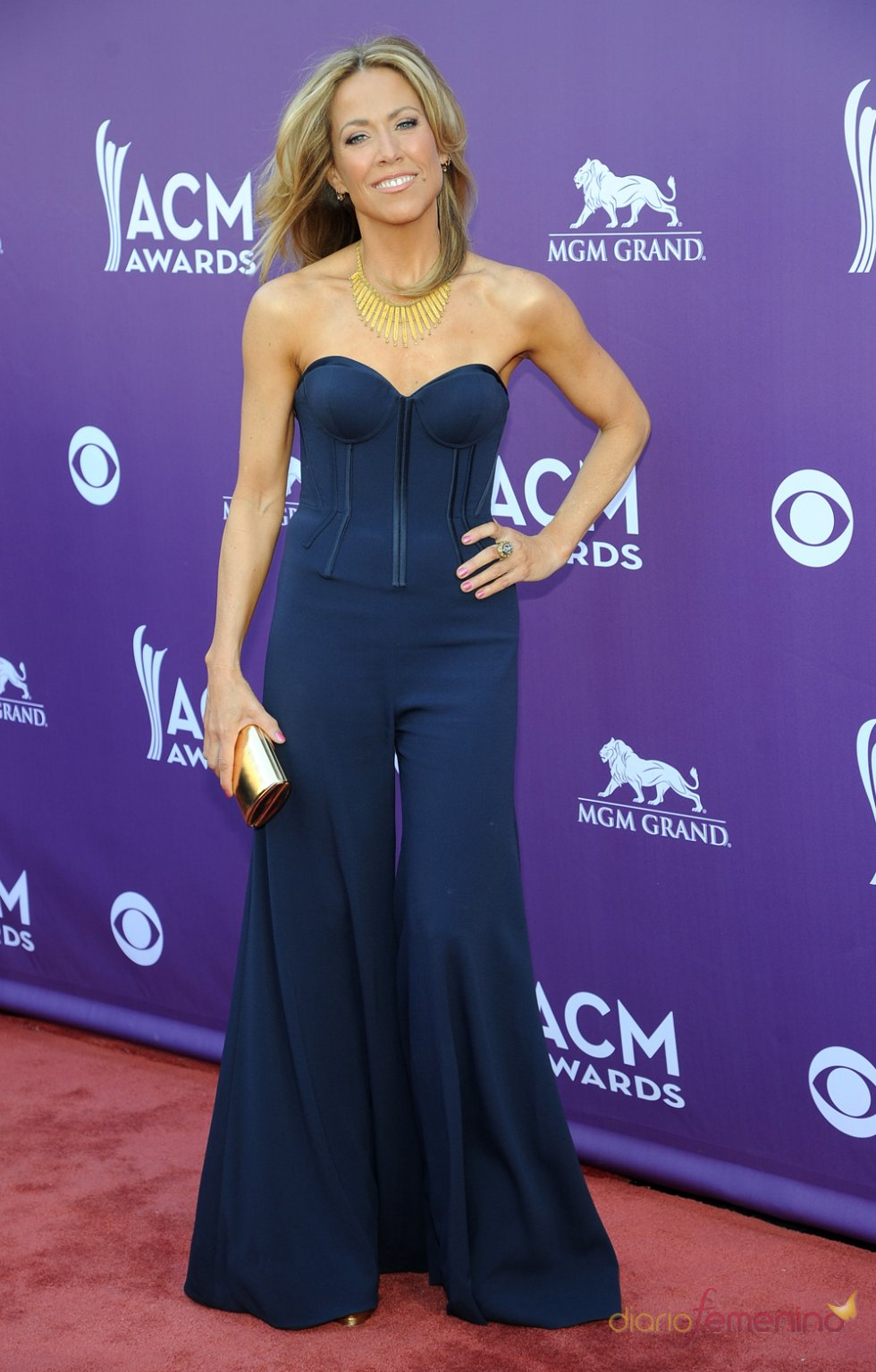 Sheryl Crowe en la alfombra roja de los Country Music Awards 2013