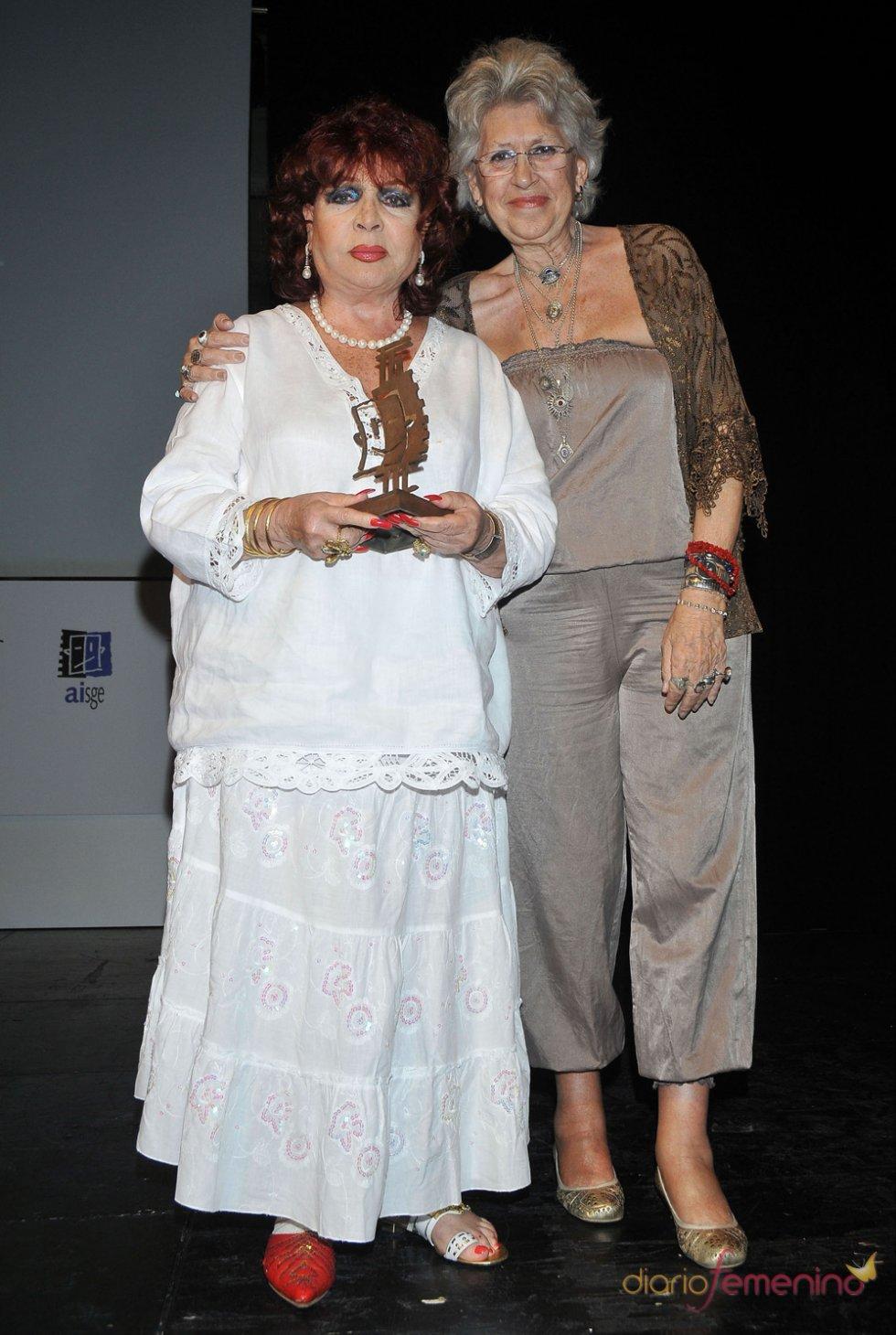 Dos leyendas de la actuación en España, Sara Montiel y Pilar Bardem