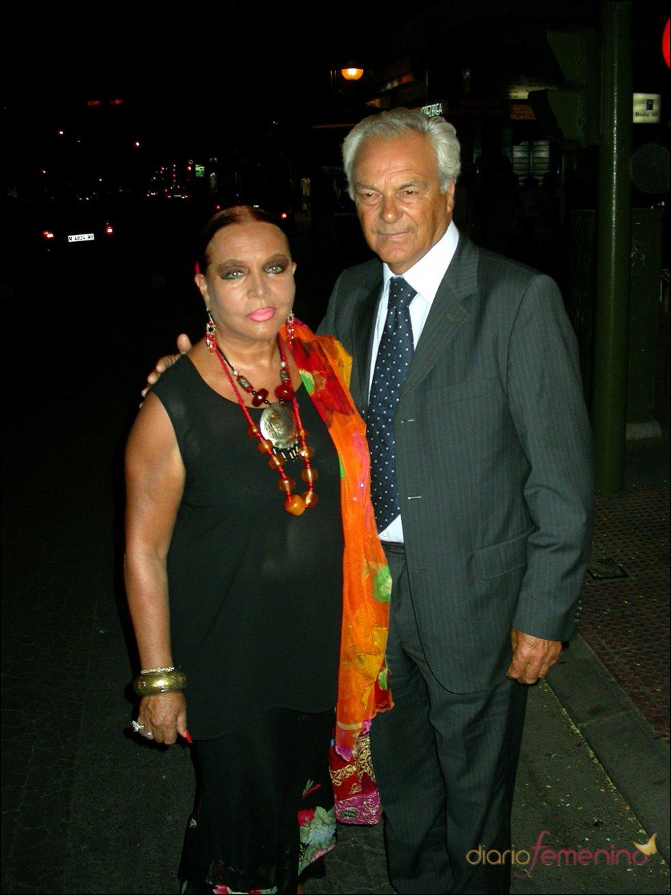 Sara Montiel junto a Giancarlo Viola, su novio en la madurez