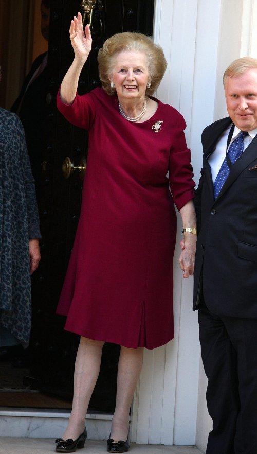 La ex primera ministra británica, Margaret Thatcher