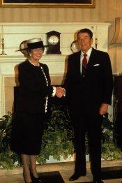 Margaret Thatcher con el ex presidente de Estados Unidos, Ronald Reagan