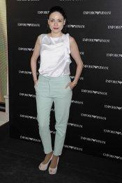 La actriz Ana Arias en la inauguración de la tienda Emporio Armani en Madrid