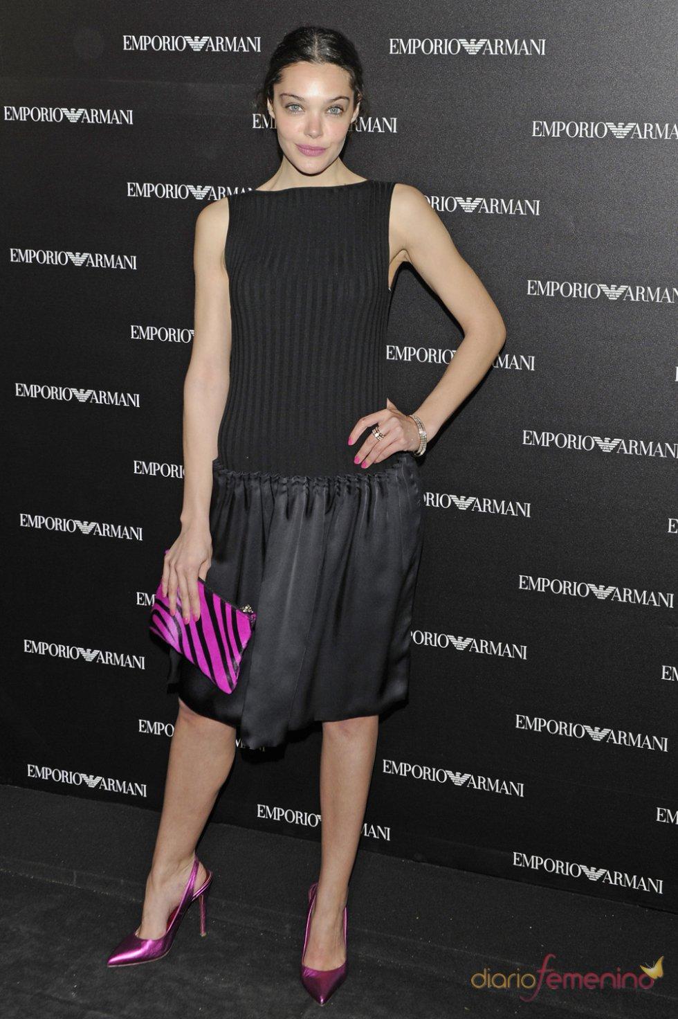 La actriz Ana Rujas en la inauguración de la tienda Emporio Armani en Madrid