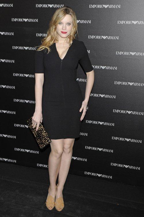 Carolina Bang en la inauguración de la tienda Emporio Armani en Madrid