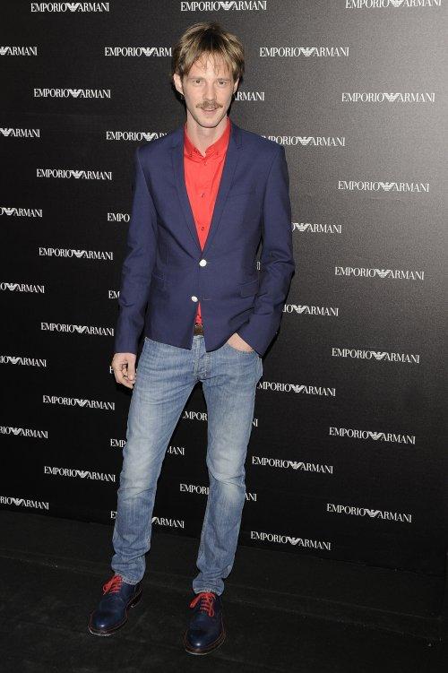 Eloy Azorín en la inauguración de la tienda Emporio Armani en Madrid