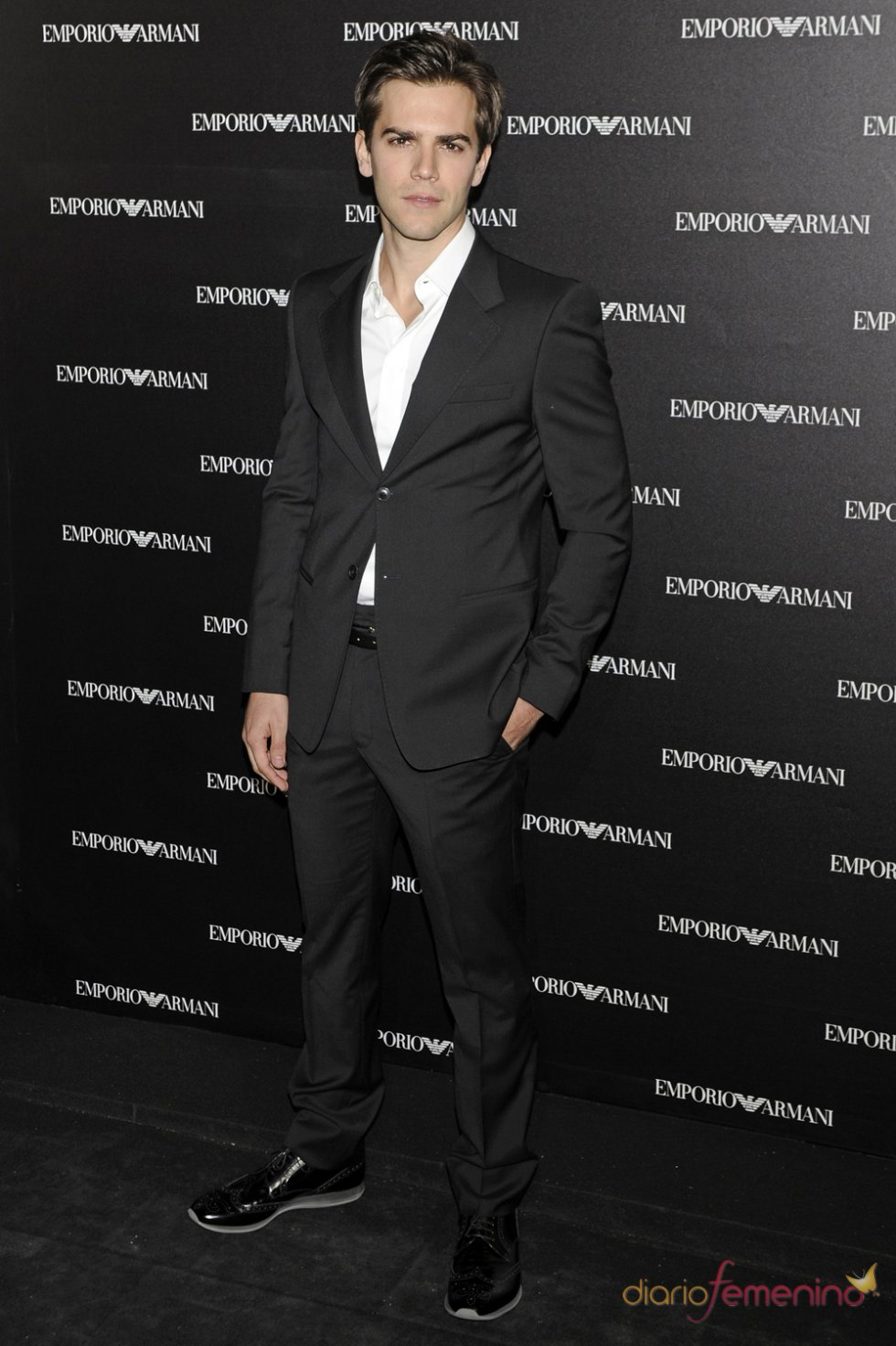 Marc Clotet en la inauguración de la tienda Emporio Armani en Madrid