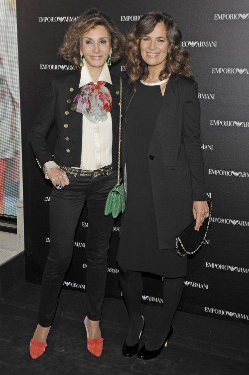 Nati Abascal y Roberta Armani en la inauguración de la tienda Emporio Armani en Madrid