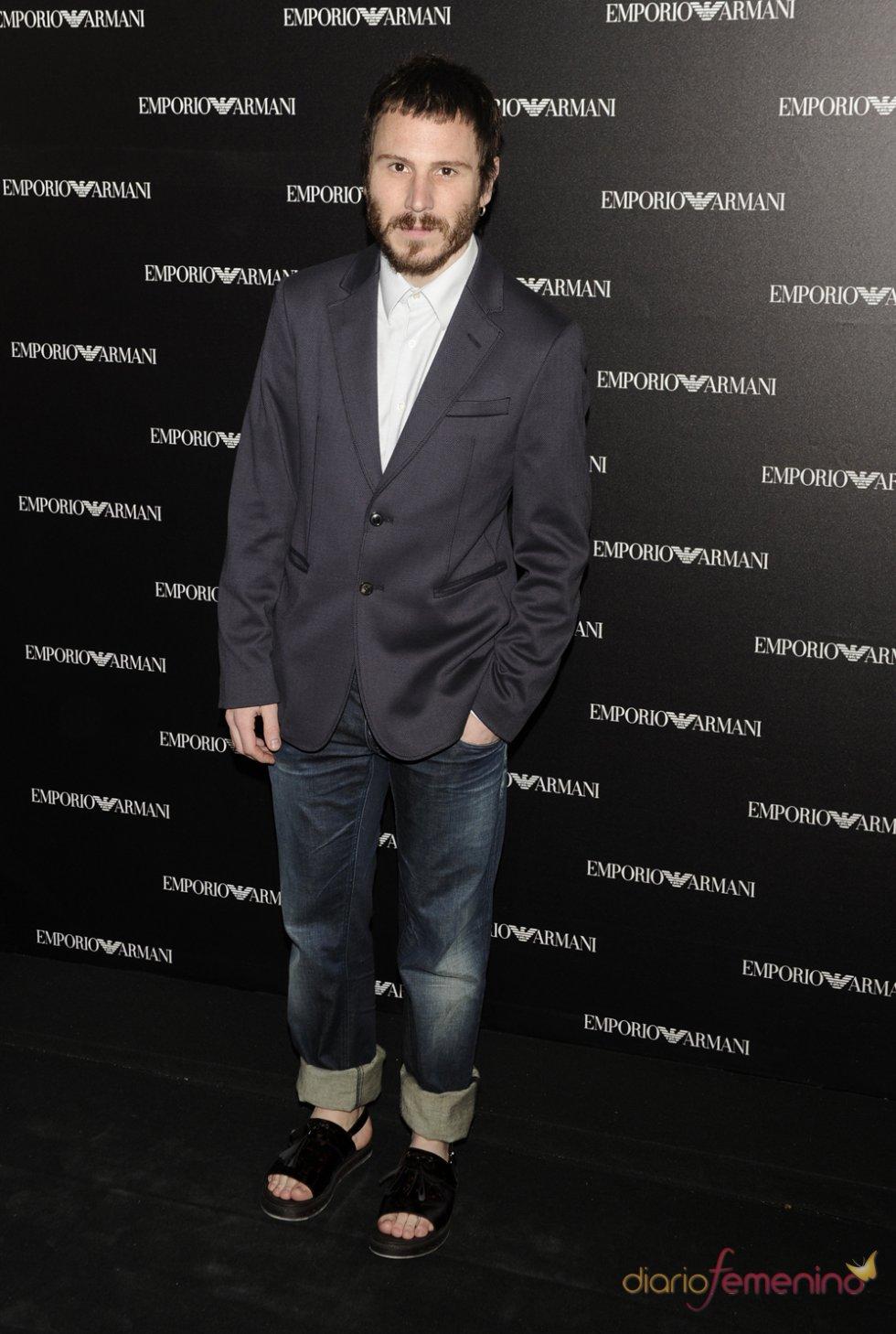 Rubén Ochandiano en la inauguración de la tienda Emporio Armani en Madrid