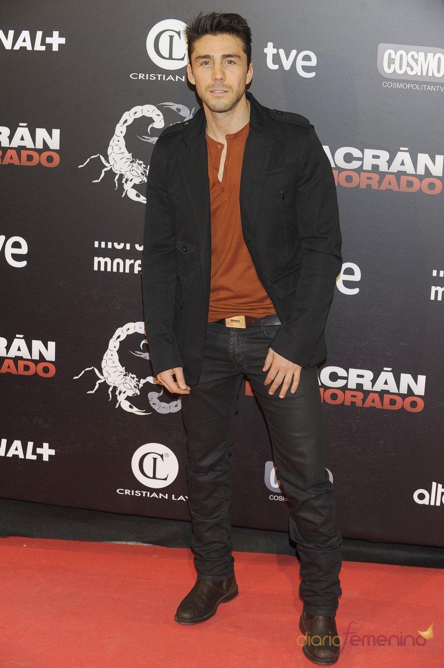 El actor Rubén Sanz en la presentación de 'Alacrán enamorado'