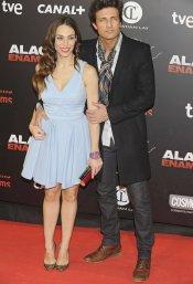 Nerea Garmendia y su novio, Jesús Olmedo, durante la presentación de 'Alacrán enamorado'