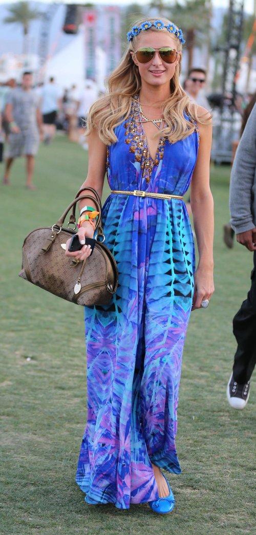 Paris Hilton no ha faltado a ninguna de las dos jornadas celebradas del Festival Coachella 2013