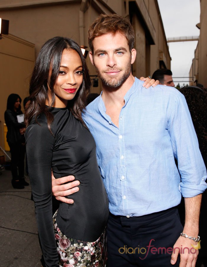 Chris Pine y Zoe Saldana, los más guapos de los MTV Movie Awards