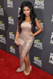 Nicole Snooki Polizzi, en los MTV Movie Awards 2013