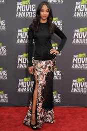 Zoe Saldana y la falta más espectacular de los MTV Movie Awards