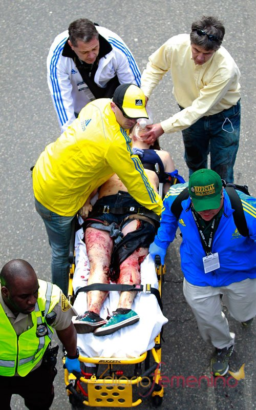 La meta del maratón de Boston, convertida en tragedia