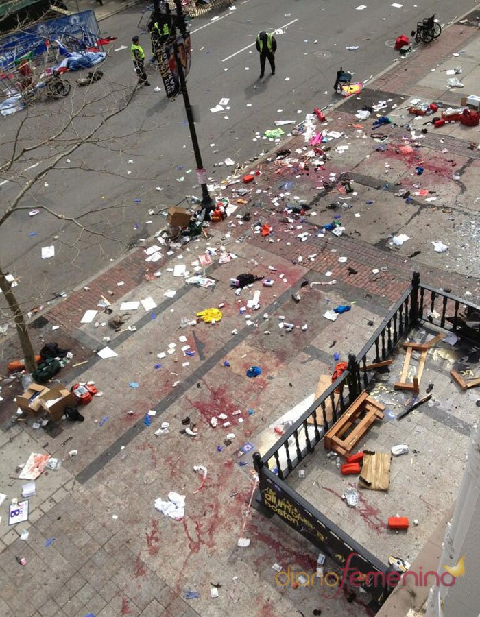 Monstruosa foto tras la bomba de Boston