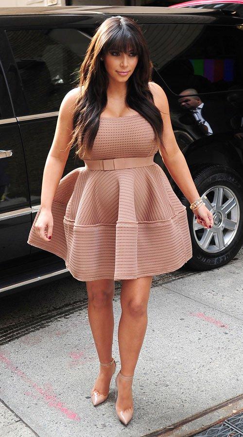 El vestido con falda de globo de Kim Kardashian