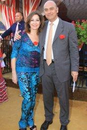 Ana Rosa Quintana, con su pareja en la Feria de Abril 2013