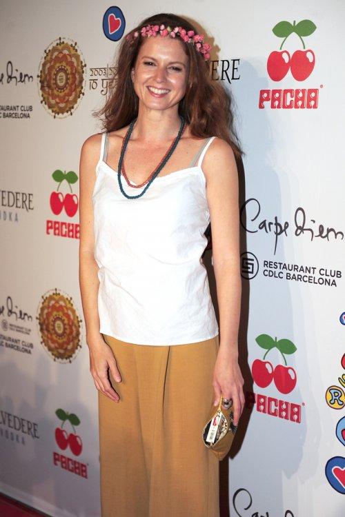 La actriz Marian Aguilera en Barcelona durante la fiesta Flower Power Pacha 2013