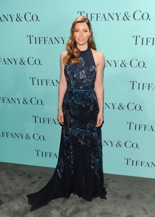 Jessica Biel en la fiesta Blue Book Ball de Tiffany