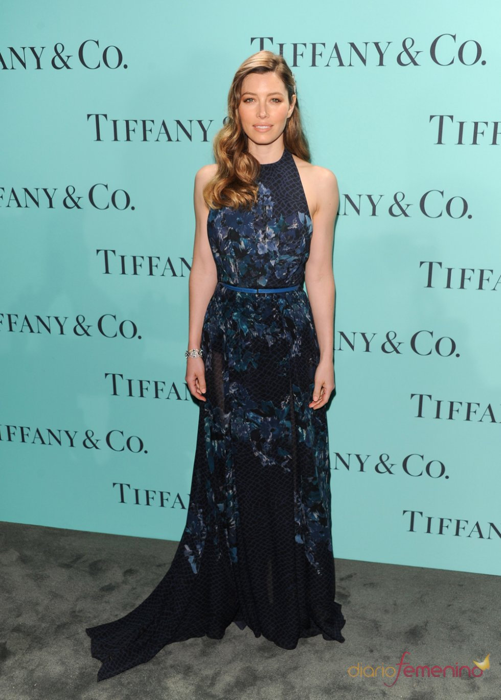 Jessica Biel en la fiesta Blue Book Ball de Tiffany