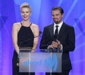 Charlize Theron y Leonardo DiCaprio, duo de guapos en los Glaad 2013