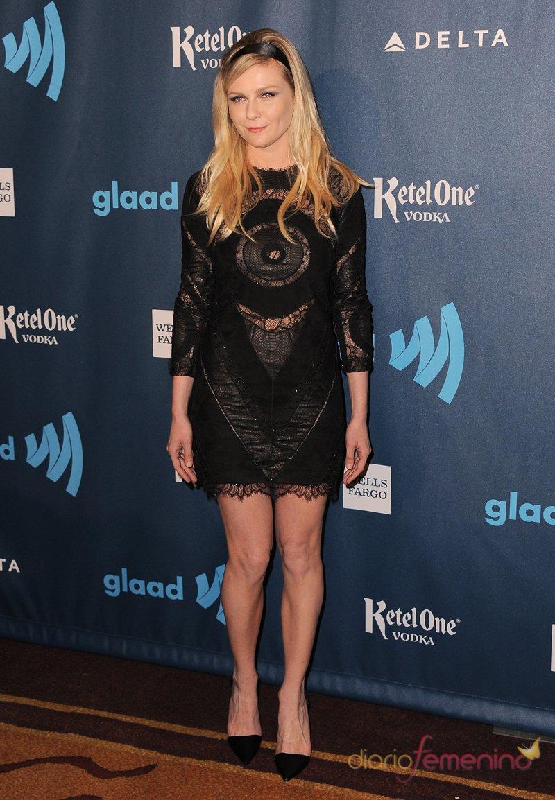 La actriz Kirsten Dunst en la gala Glaad 2013