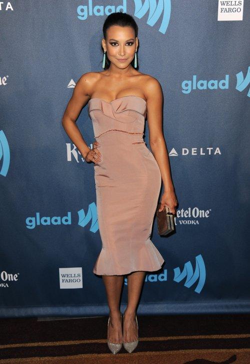 La actriz de Glee, Naya Rivera, en los Glaad 2013