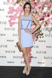 Dafne Fernández con un vestido lila durante la presentación del perfume de Tous, Rosa