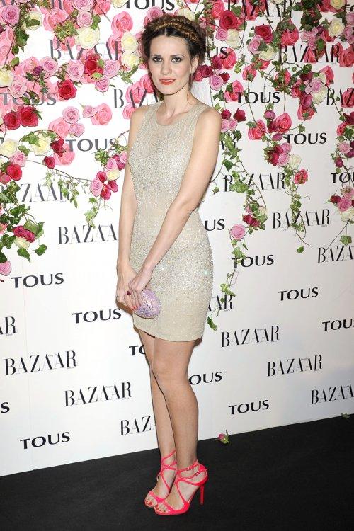 Elena Ballesteros con una original trenza durante la presentación del perfume de Tous, Rosa