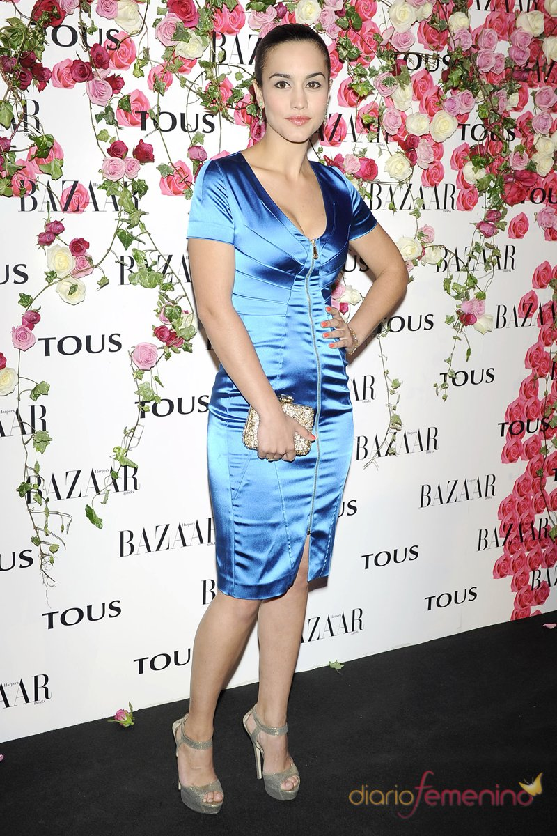 El look de Megan montaner en la presentación del perfume de Tous 'Rosa'