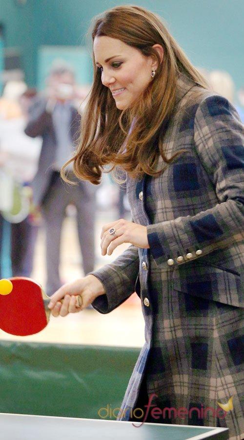 Kate Middleton, embarazada pero deportista