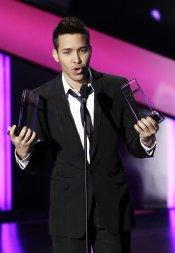 Prince Royce durante la gala de los Billboard Latinos 2013