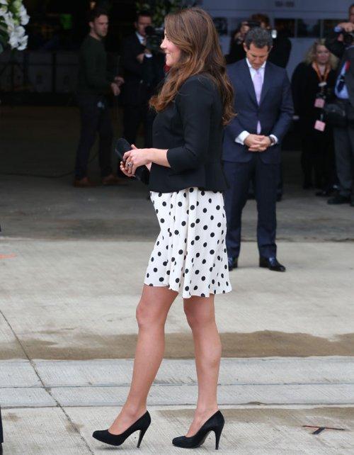 Kate Middleton: con lunares y a lo loco