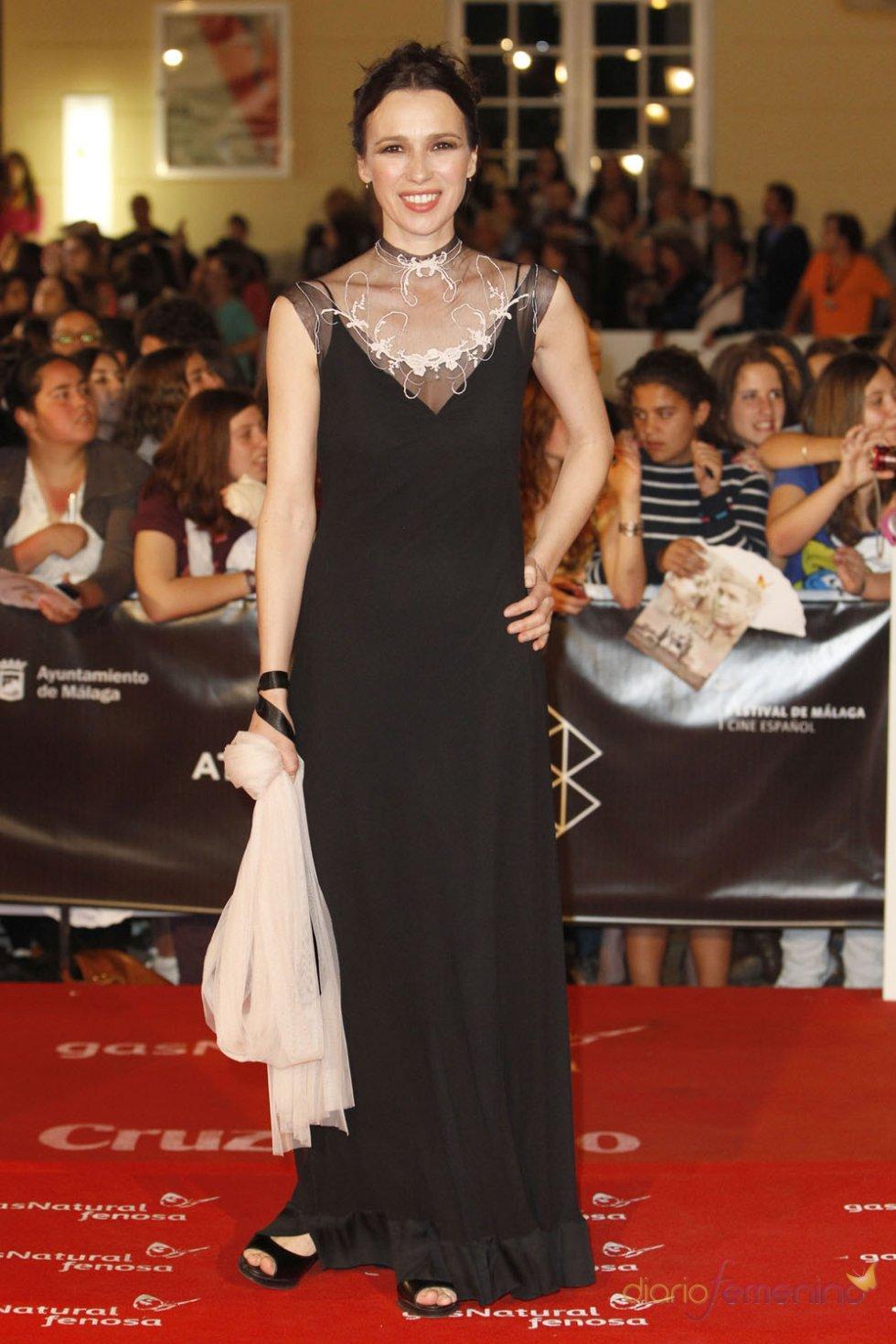 Adriana Gil Lastra en la alfombra roja del Festival de Málaga 2013