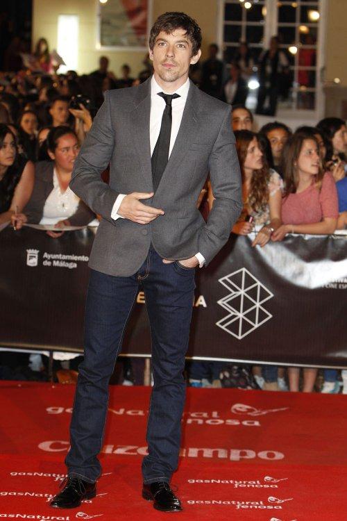 Adrián Lastra en la alfombra roja del Festival de Málaga 2013