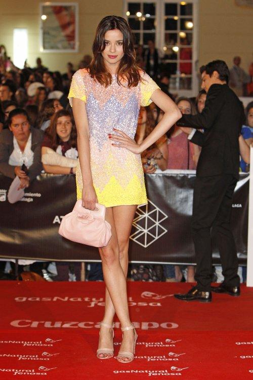 Dafne Fernández en la alfombra roja del Festival de Málaga 2013