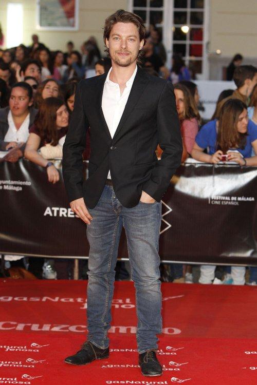 Jan Cornet en la alfombra roja del Festival de Málaga 2013