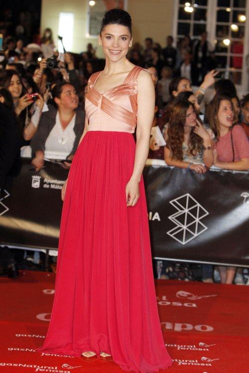 Irene Visedo en la alfombra roja del Festival de Málaga 2013