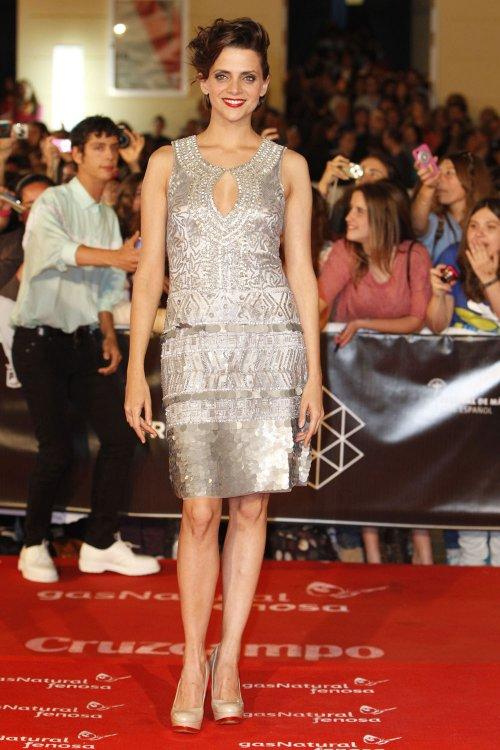 Macarena Gómez en la alfombra roja del Festival de Málaga 2013