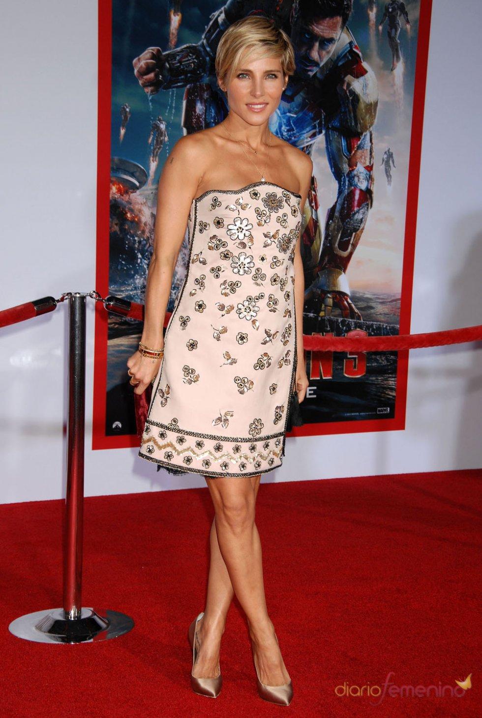 Elsa Pataky con un estilo veraniego durante la premier de 'Iron Man 3'
