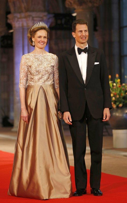 Luis y Sofía de Liechtenstein en la última cena organizada por Beatriz de Holanda como Reina